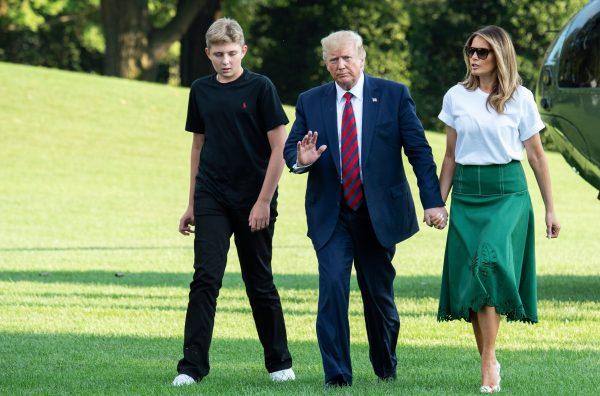 Barron, Trump, Melania
