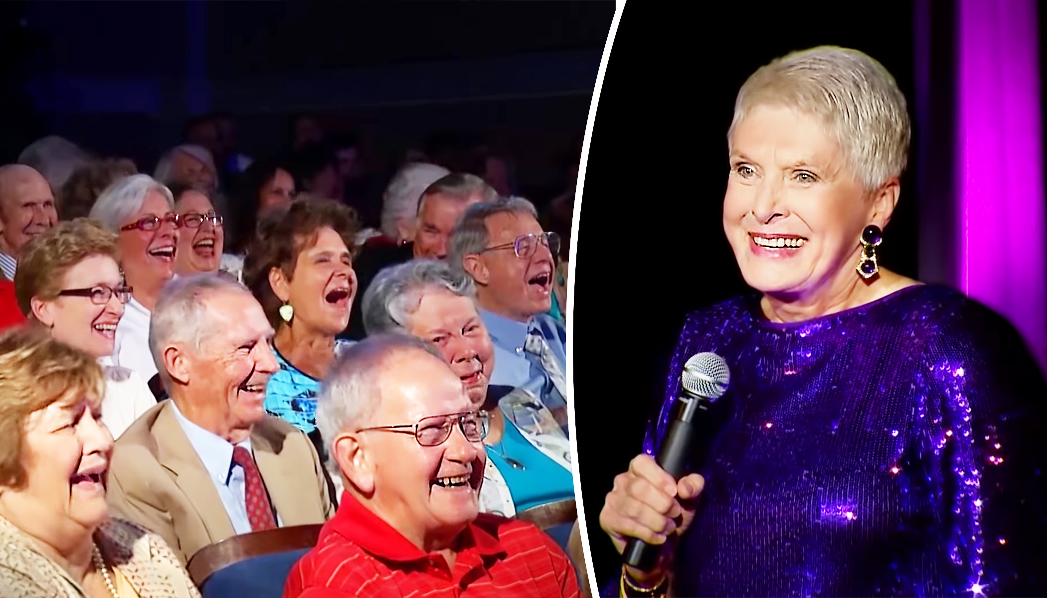 6-foot-2 Comedian Jeanne Robertson Shares Onstage Wardrobe Woes That Leave Audience Rolling in the Aisles