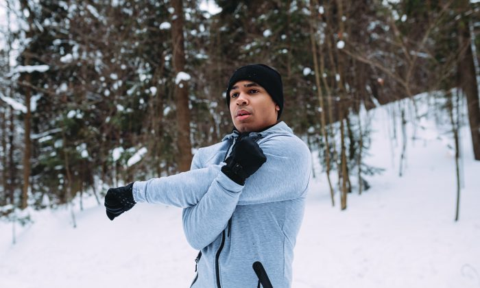 Working out in the cold may help burn more calories but at the expense of building muscle strength. (Artem Varnitsin/Shutterstock)