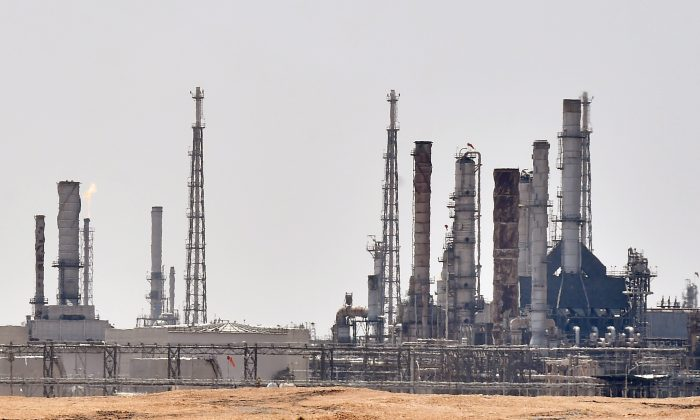 Aramco oil facility, located to the south of the Saudi capital Riyadh, Sept. 15, 2019. (Fayez Nureldine/AFP/Getty Images)