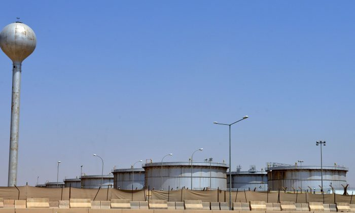 A picture shows an Aramco oil facility at the edge of the Saudi capital Riyadh, on Sept. 15, 2019. (Fayez Nureldine/AFP/Getty Images)