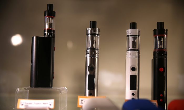 E-cigarettes on display in a file photo. (Justin Sullivan/Getty Images)