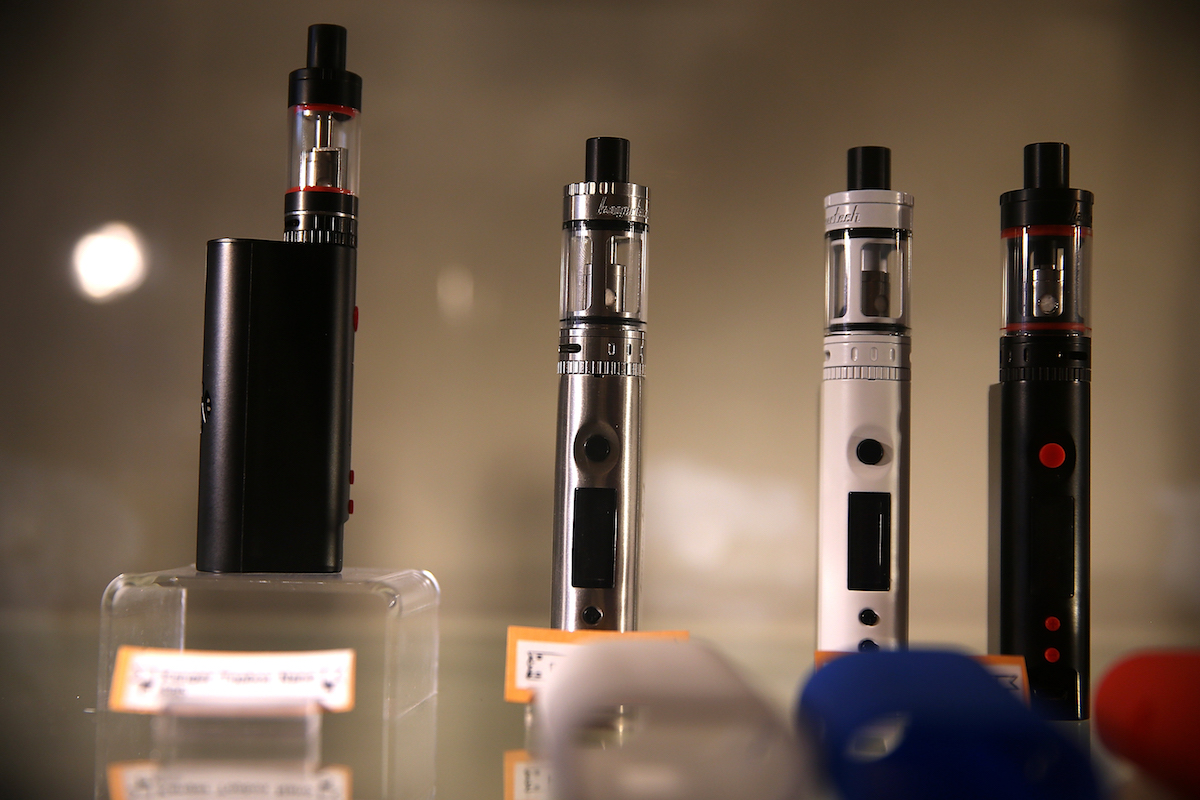 E-cigarettes on display