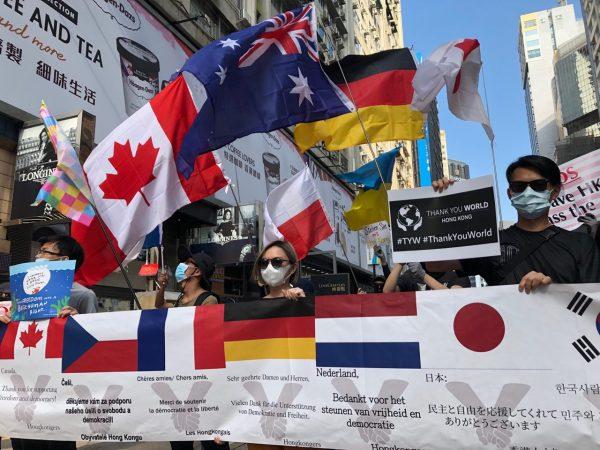 hong kong protest flags