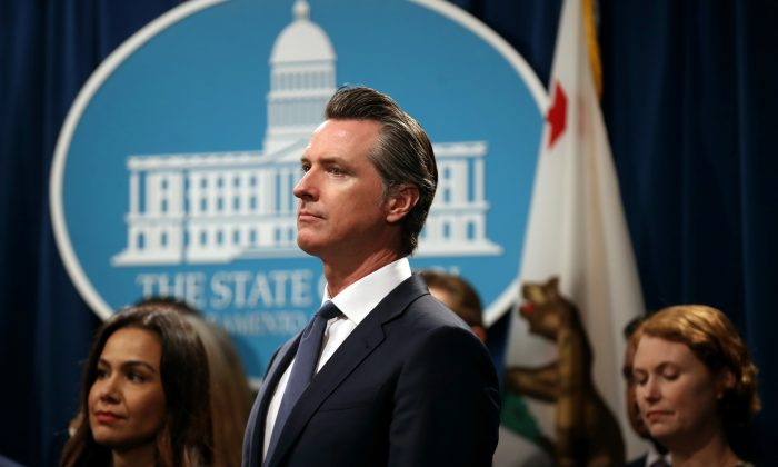 California Gov. Gavin Newsom at the California State Capitol on Aug. 16, 2019 in Sacramento, California.  Justin Sullivan/Getty Images