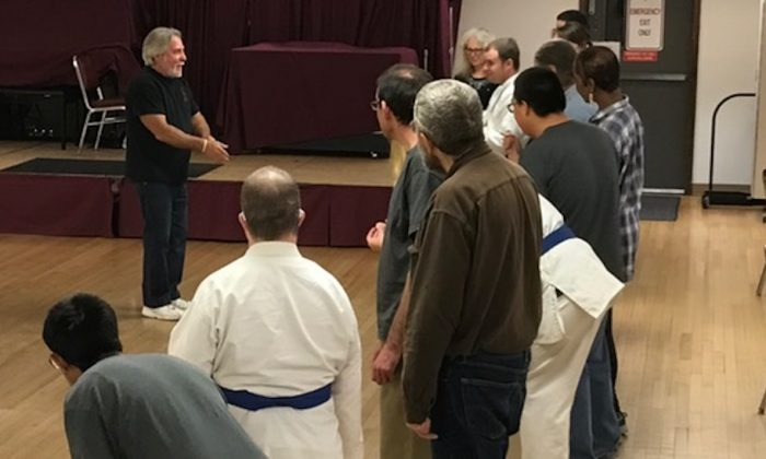 Sensei Mark Nothdurft (L) has practiced the martial arts for 43 years. (Courtesy of Mountain Tiger Society)