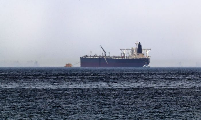 A file photo of a crude oil tanker off the coast of the Gulf emirate of Fujairah taken on May 13, 2019. (Karim Sahib/AFP/Getty Images)