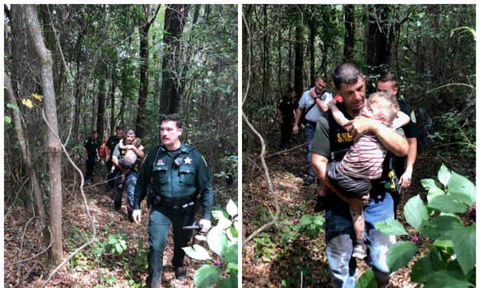 Santa Rosa County Sheriff deputies found a missing 3-year-old boy on Sept. 15, 2019. (Santa Rosa County Sheriff's Office)