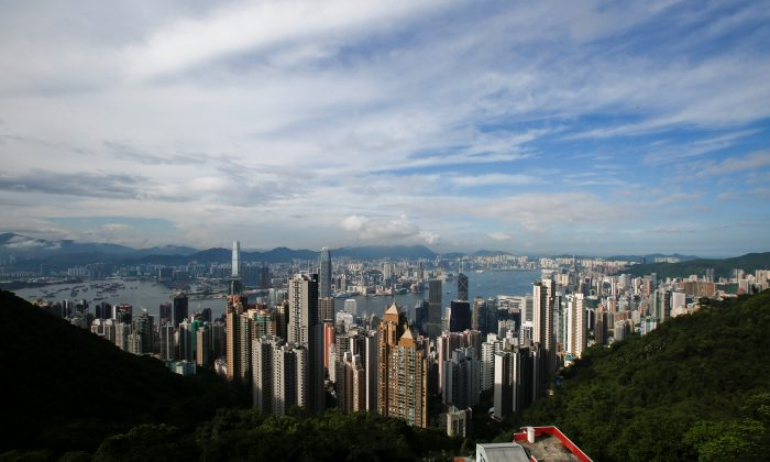 A general view of Victoria Harbour and downtown skyline is seen from the Peak in Hong Kong, China on Aug. 4, 2017. (Bobby Yip/Reuters)