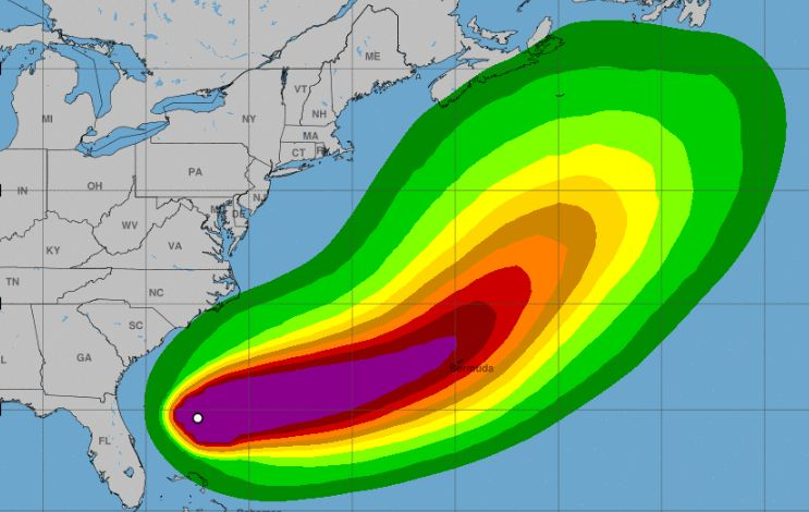 Humberto strengthens into Category 1 hurricane