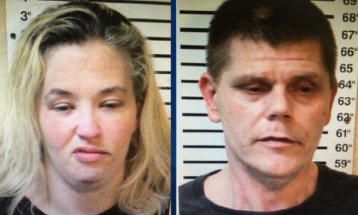 Mama June Shannon and Geno Doak in file mugshots. (Macon County Sheriff's Office)