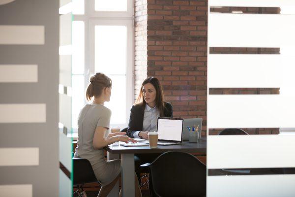 planning work in meeting room