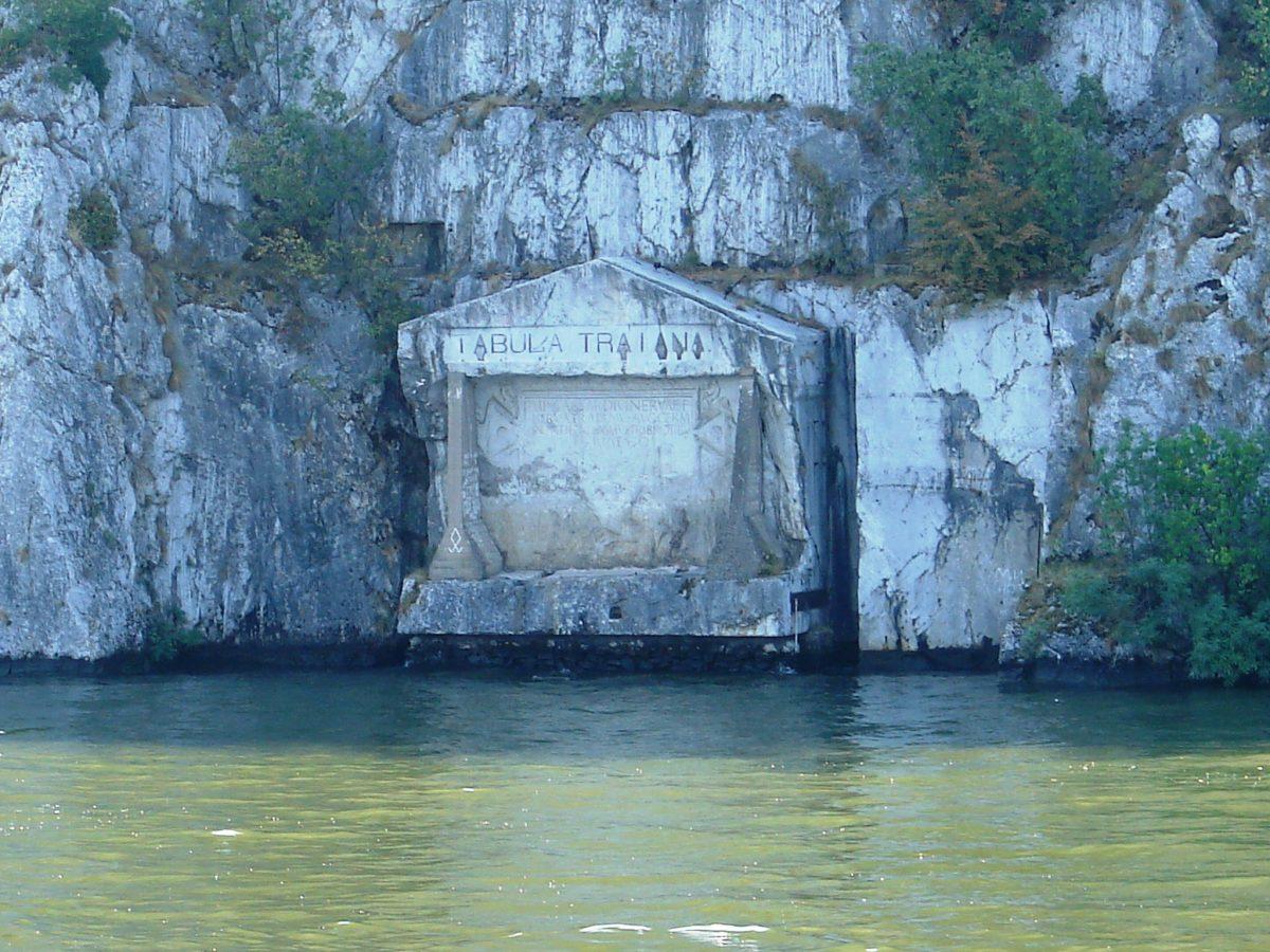 the Tabula Traiana marker