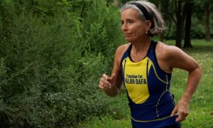 68-Year-Old Woman Runs Triathlons to Fight for Human Rights