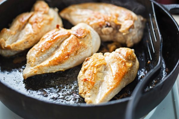 Fried chicken breasts