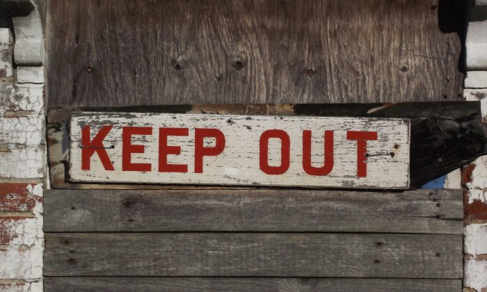 "A ""keep out sign"" is shown  in this file image. (Pixabay)"