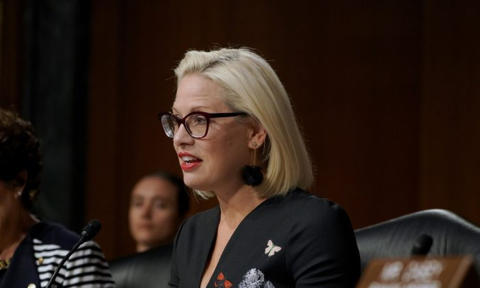 Sen. Kyrsten Sinema (D-Ariz.) in a July 2019 file photograph. (Jemal Countess/Getty Images for JDRF)