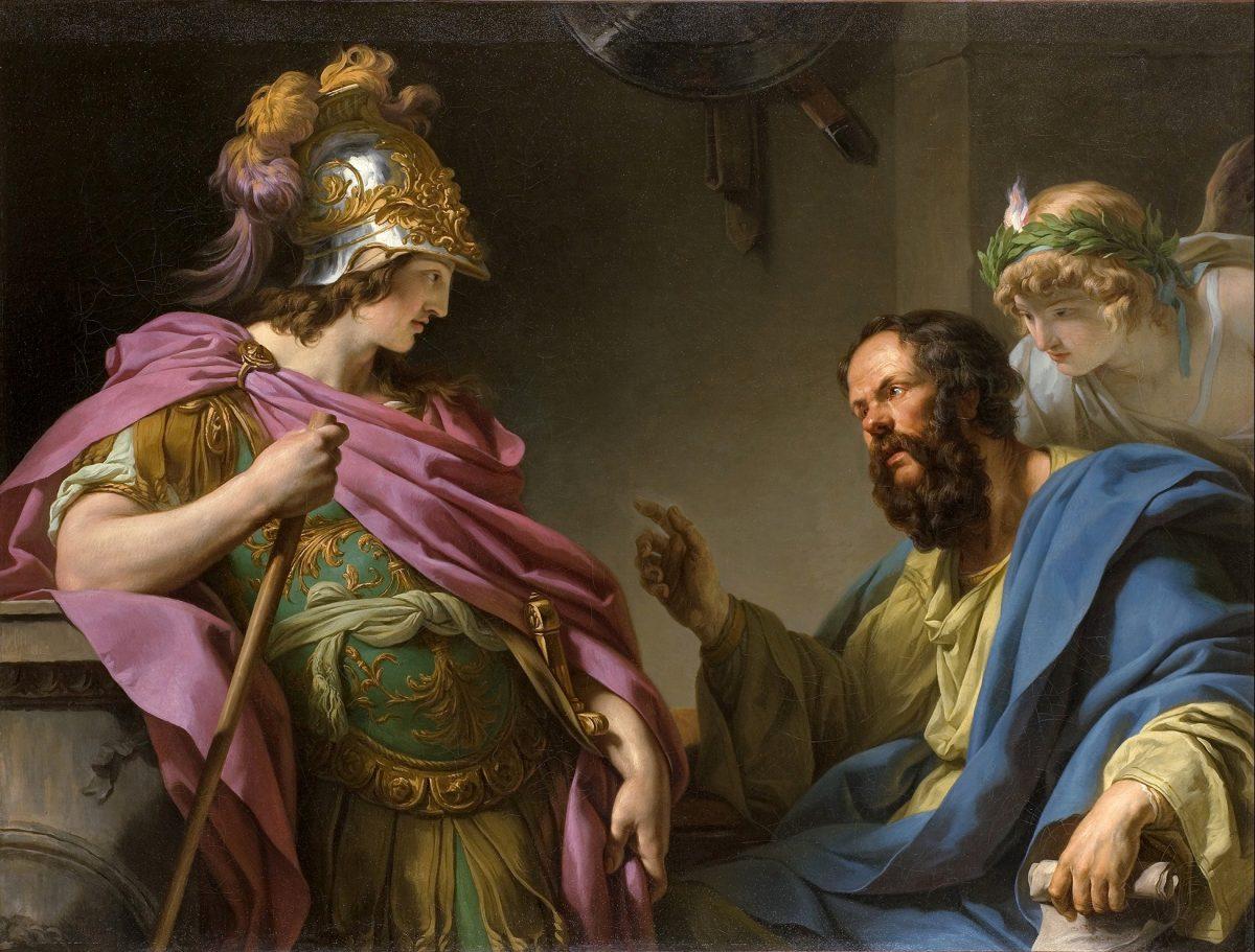 Socrates teaching Alcibades