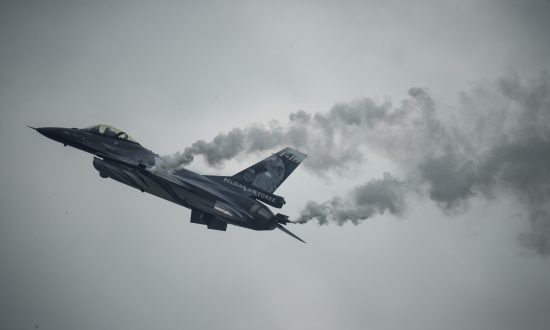 France: F-16 Fighter Jet Crash Leaves Pilot Hanging From Electrical Wire