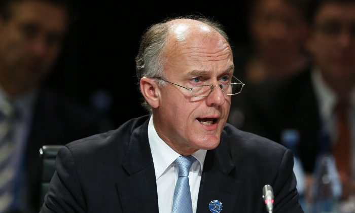 Senator Eric Abetz in Melbourne, Australia, on Sept. 10, 2014. (Graham Denholm/Getty Images)