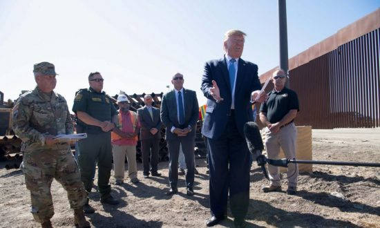 Trump Autographs US-Mexico Border Wall With Sharpie