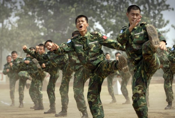 PLA soldiers and UN mission