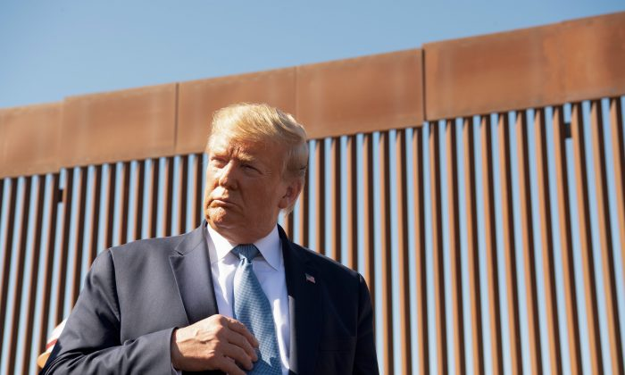 President Donald Trump during a visit to the southern border of the United States on Sept. 18, 2019. (Nicholas Kamm/AFP/Getty Images)