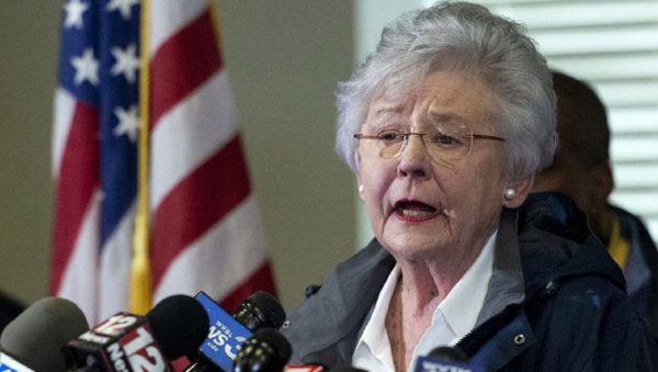 Alabama Gov. Kay Ivey speaks at a news conference