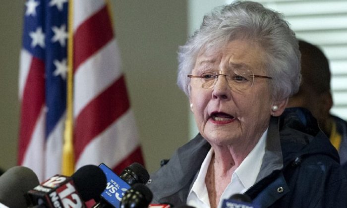 Alabama Gov. Kay Ivey speaks at a news conference in Beauregard, Ala., on March 4, 2019. (Vasha Hunt, AP Photo/File)