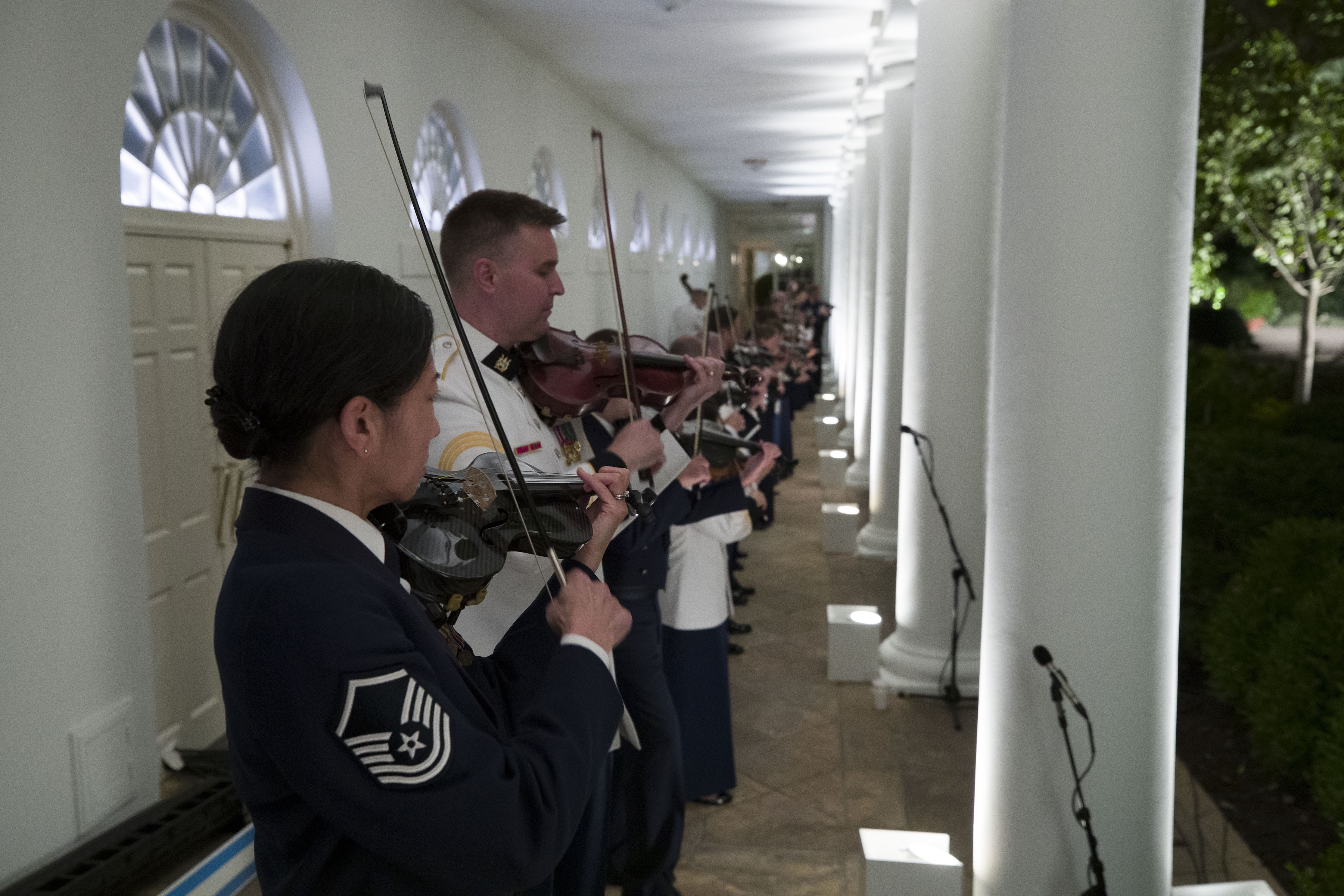 Military Band Whitehouse Welcome