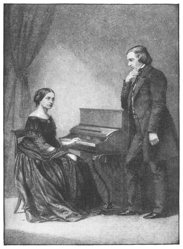 Pianist lady and man