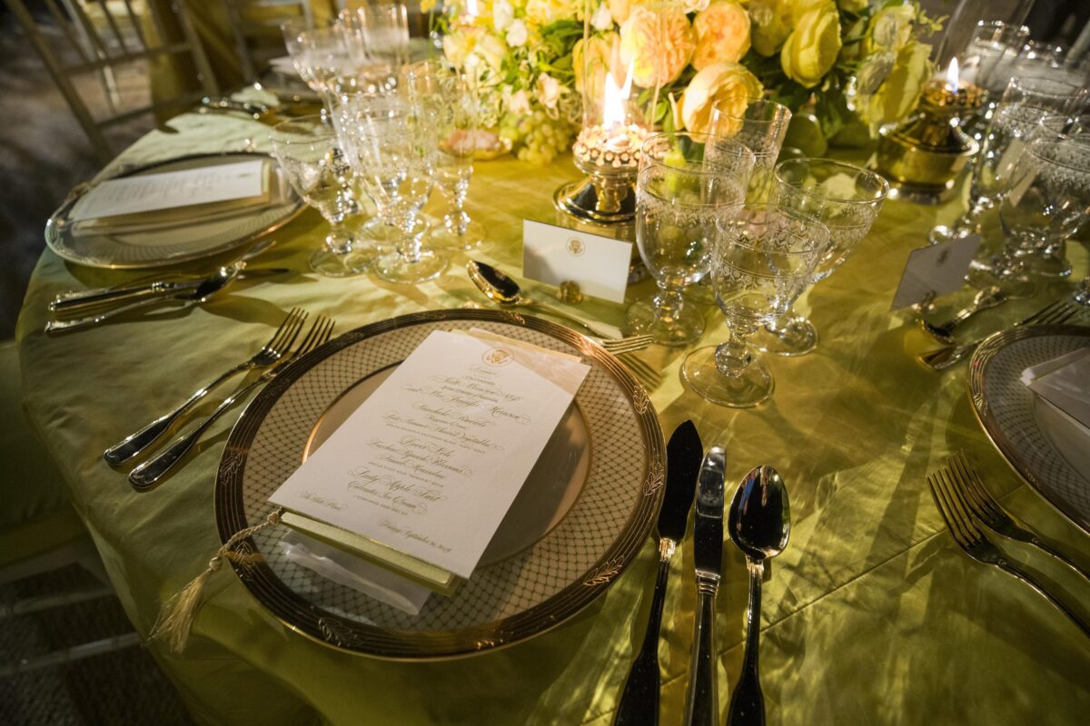 Trump State Dinner Table Setting