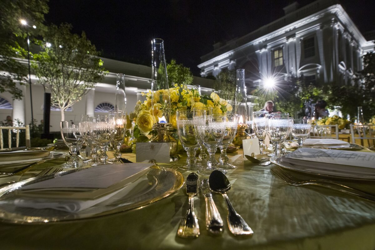 Trump State Dinner, Rose Garden