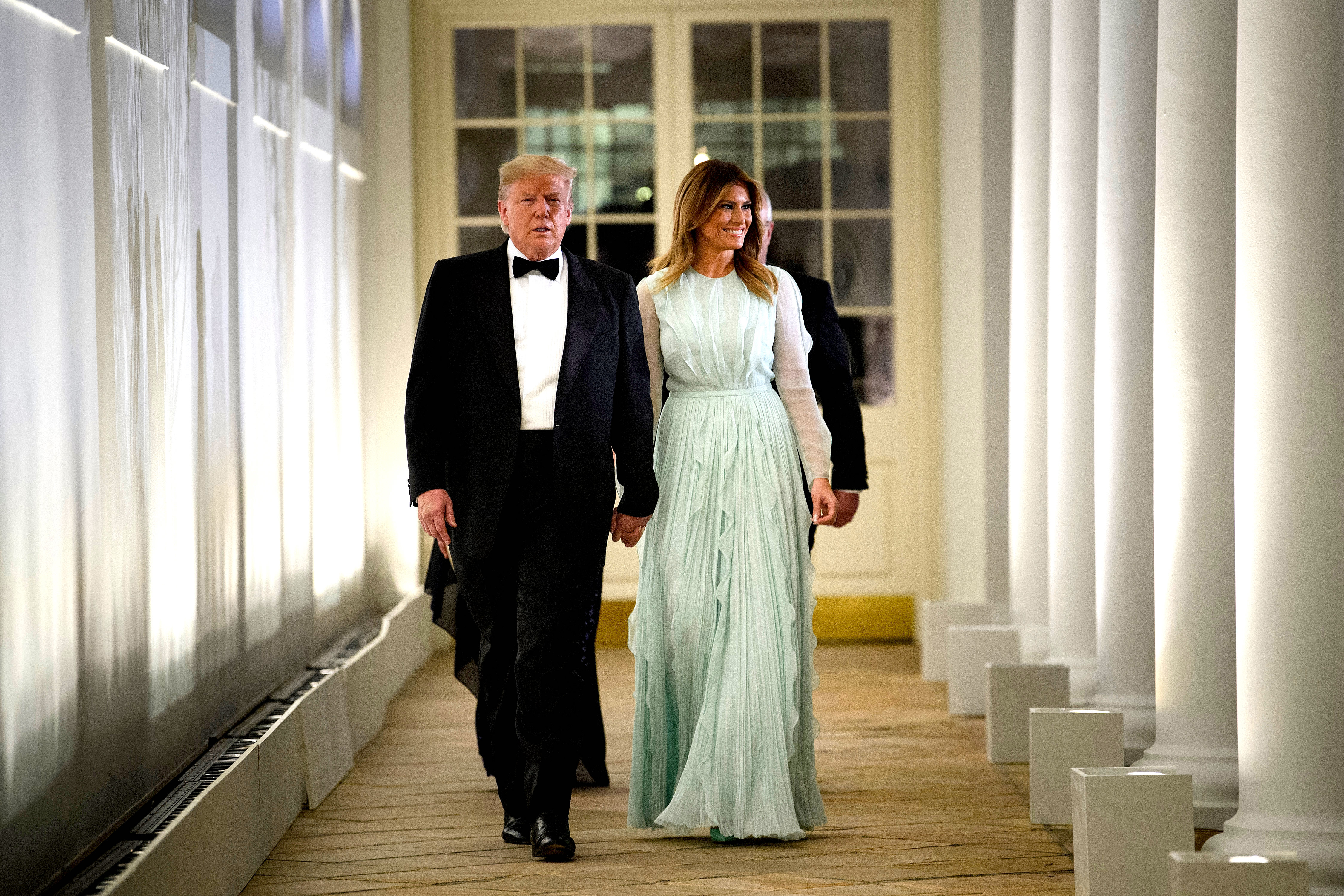 Trump and Melania at state dinner