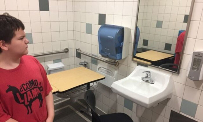 Special-needs student moved to bathroom at Whatcom Middle School (Photo courtesy Danielle Goodwin)