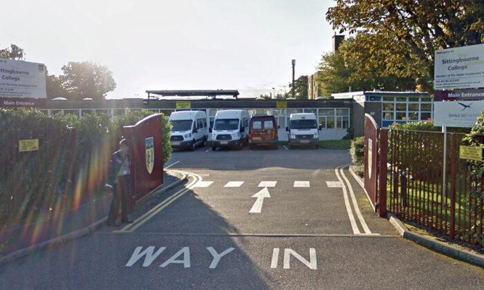Entrance to Sittingbourne College in Sittingbourne, U.K. in September 2018. (Google Maps Street View/Screenshot)
