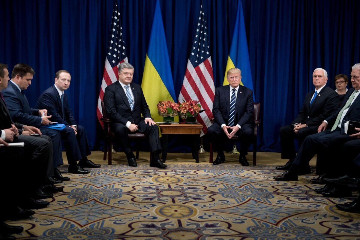Ukraine's President Petro Poroshenko and U.S. President Donald Trump