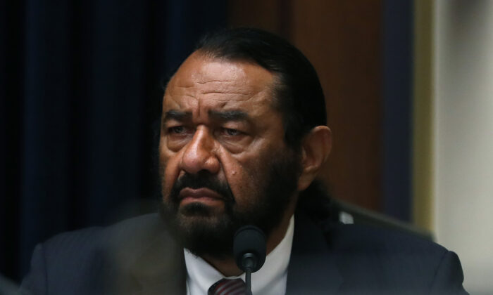 Rep. Al Green (D-Texas) listens to testimony during a House Financial Services Committee hearing on Capitol Hill in Washington on July 17, 2019. (Mark Wilson/Getty Images)