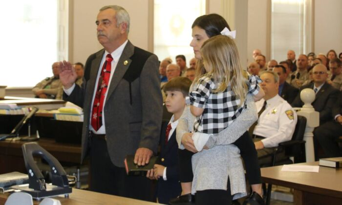 Granville County Sheriff Brindell Wilkins at the Granville County Courthouse in Oxford, N.C., on Dec. 6, 2018. (Courtesy of Granville County Sheriff's Office/Facebook)