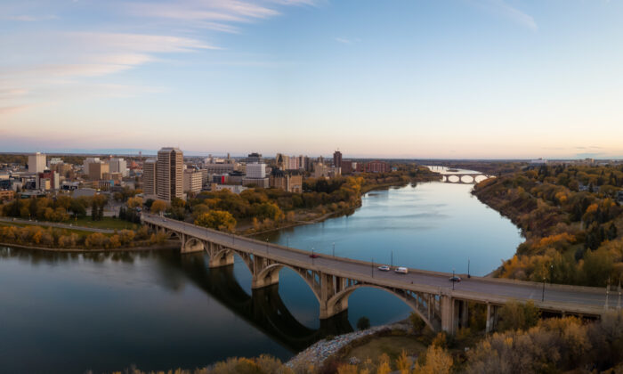 Fall sunrise over Saskatoon. (Shutterstock)