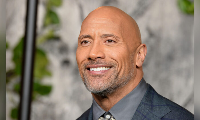 Dwayne Johnson attends the 'Jumanji: Welcome To The Jungle' UK premiere held at Vue West End on Dec. 7, 2017 in London, England. (Jeff Spicer/Jeff Spicer/Getty Images)