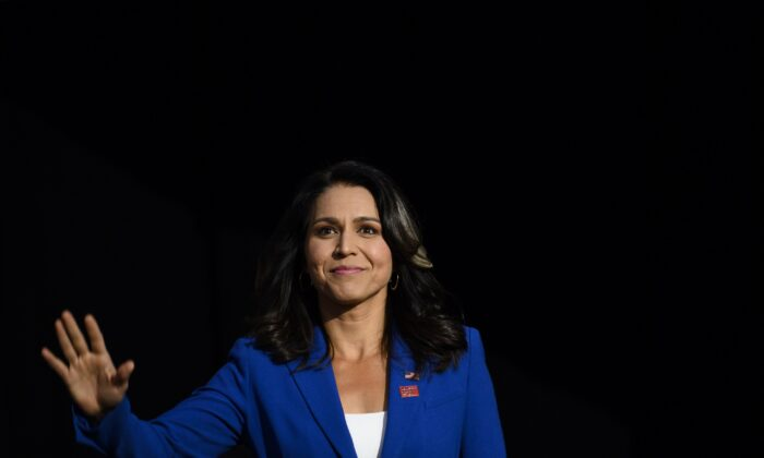 Rep. Tulsi Gabbard (D-Hawaii) at a campaign event on Aug. 10, 2019. (Stephen Maturen/Getty Images)
