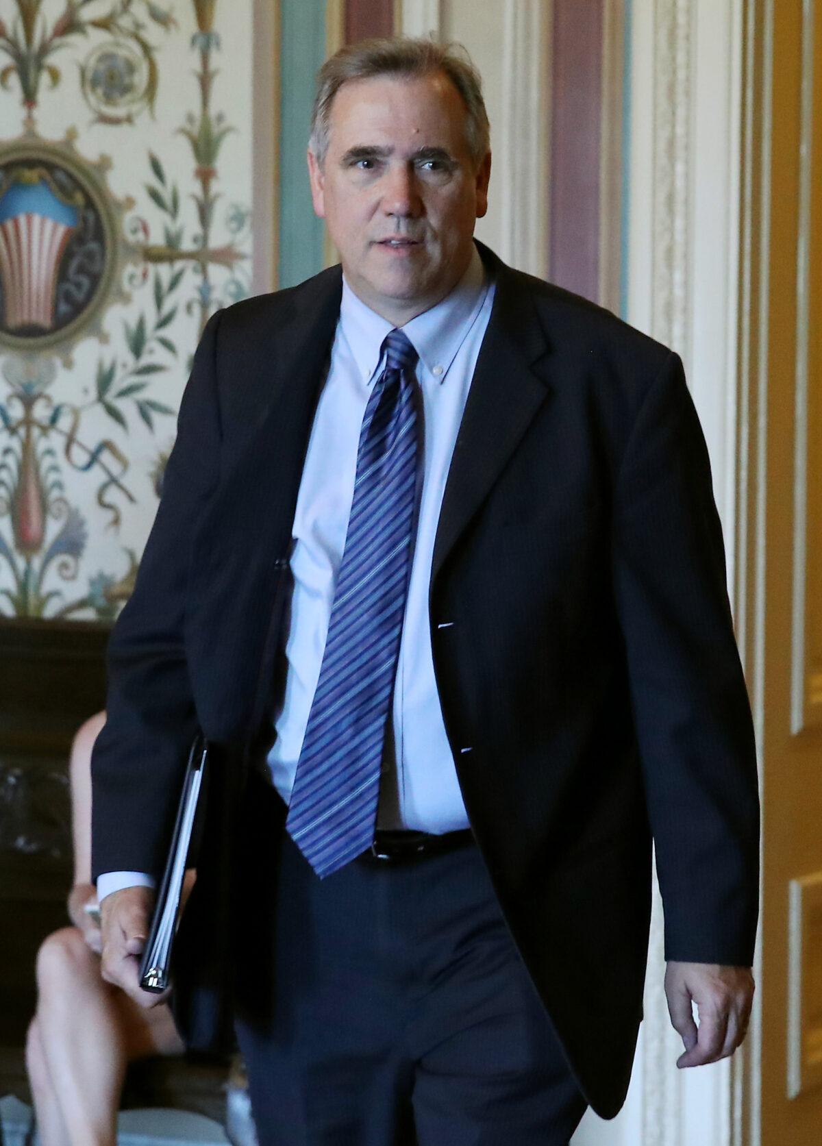 Democratic Sen. Jeff Merkley of Oregon at the Capitol on Aug. 1, 2019. (Mark Wilson/Getty Images)