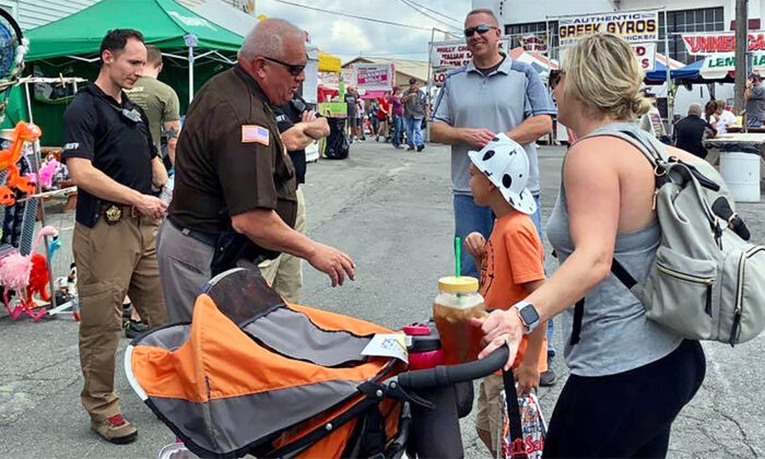 Representatives from the Frederick County Sheriff's Office attend the Great Frederick Fair in Frederick, Md., on Sept. 17, 2019. (Courtesy of Frederick County Sheriff's Office/Facebook)