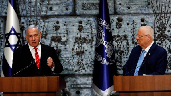 Israeli President Reuven Rivlin and Prime Minister Benjamin Netanyahu