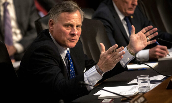 Chairman Richard Burr (R-N.C.) speaks during the Senate Intelligence Committee hearing at the Hart Senate Building in Washington on Feb. 9, 2016. (Gabriella Demczuk/Getty Images)