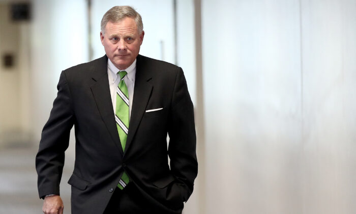 Sen. Richard Burr (R-N.C.), chairman of the Senate Select Committee on Intelligence, arrives for a briefing on Capitol Hill in Washington on May 23, 2017. (Win McNamee/Getty Images)