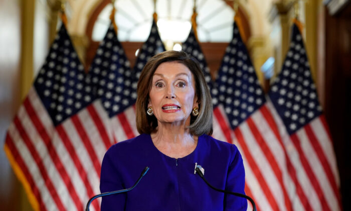 House Speaker Nancy Pelosi (D-Calif.) announces the House of Representatives will launch a formal inquiry to investigate whether to impeach U.S. President Donald Trump following a closed House Democratic caucus meeting at the U.S. Capitol in Washington on Sept. 24, 2019. (Reuters/Kevin Lamarque)