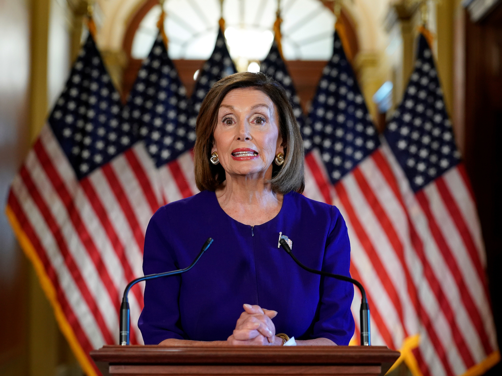 House Speaker Nancy Pelosi announces Trump impeachment inquiry at the U.S. Capitol in Washington