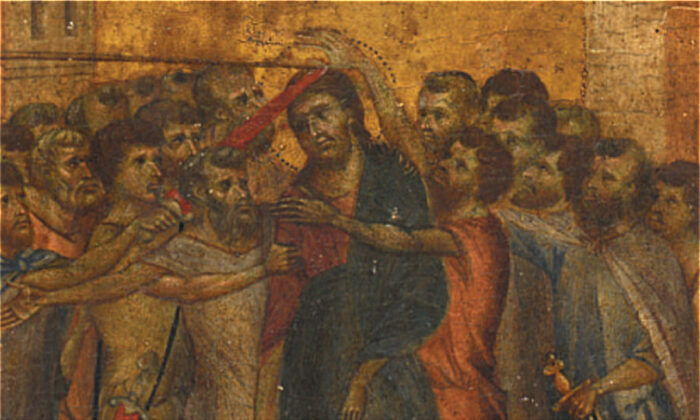 """The renaissance masterpiece painting """"The Mocking of Christ"""" by Florentine artist Cenni di Pepo also known as Cimabue. (Pic courtesy Acteon)"""